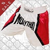 FIGHTERS - Muay Thai Shorts / Weiss-Rot